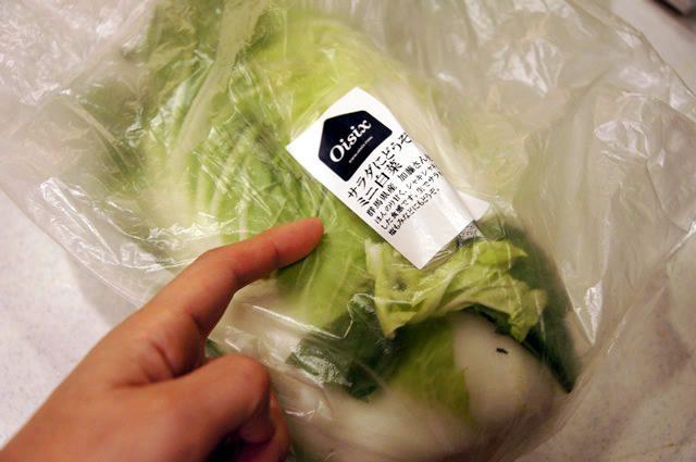 オイシックス お試しセットに入っていたサラダ用白菜