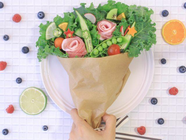 野菜ブーケ 冷凍食品お祝い