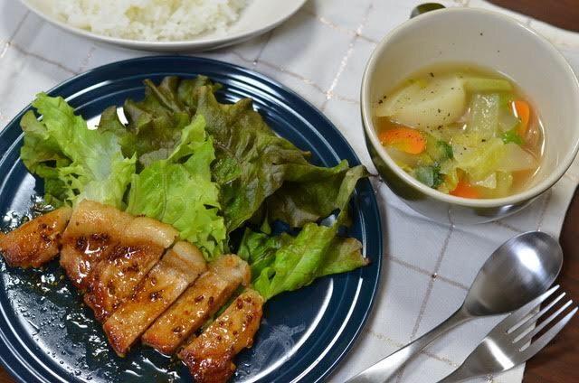 ヨシケイLovyu(ラビュ)ハニーマスタードポークとスープ