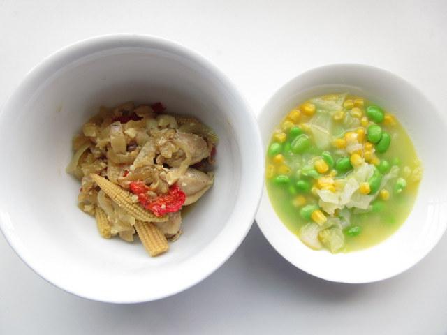 ウェルネスダイニングの料理キット 糖質制限料理キット 鶏肉とカシューナッツ炒め 枝豆の彩り中華和え
