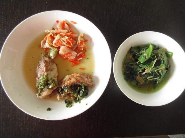 ウェルネスダイニング料理キット 糖質制限料理キット 赤魚のねぎソース 青梗菜のなめ茸和え