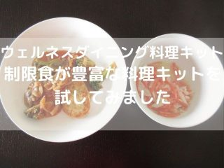 ウェルネスダイニングの料理キット カロリー&糖質制限料理キット
